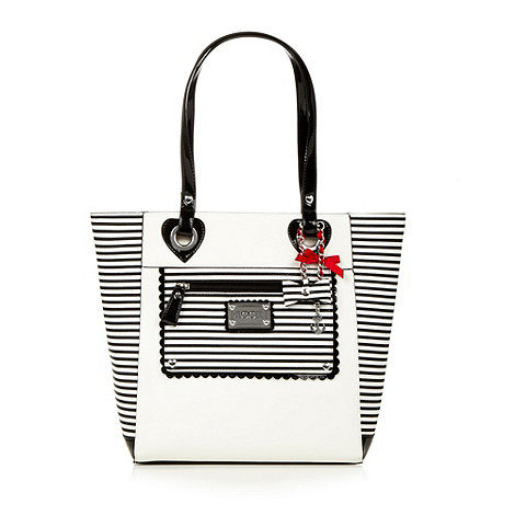 Floozie by Frost French - White nautical striped shopper
