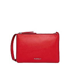 Fiorelli - Red bunton double compartment crossbody bag