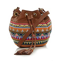 Butterfly by Matthew Williamson - Designer tan leather embellished duffle bag
