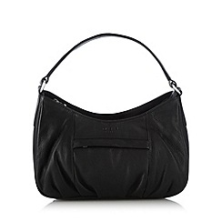 O.S.P OSPREY - Black scooped leather shoulder bag