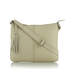 O.S.P OSPREY - Cream leather 'Corsica' cross body bag