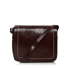 O.S.P OSPREY - Wine coated leather flap over cross body bag