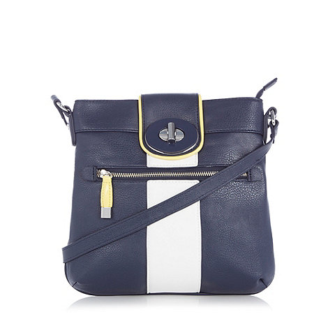 Principles by Ben de Lisi - Designer navy twist lock cross body bag