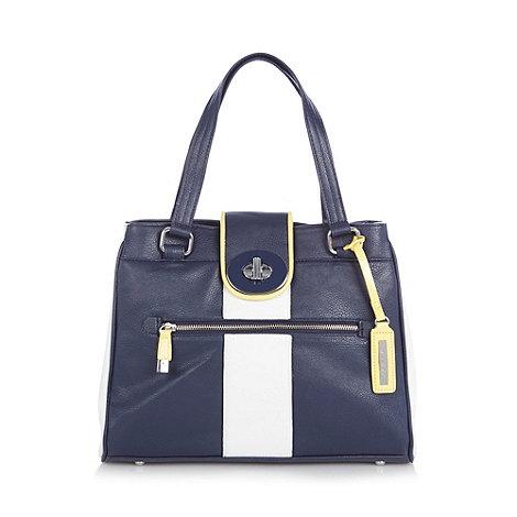 Principles by Ben de Lisi - Designer navy twist lock tote bag
