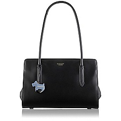 Radley - Large black leather 'Liverpool Street' tote bag