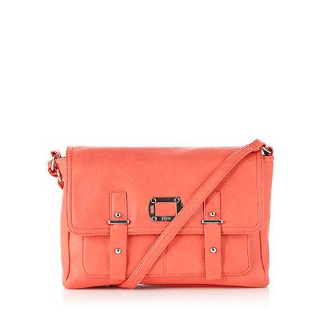 H! by Henry Holland - Designer coral double pocket satchel bag