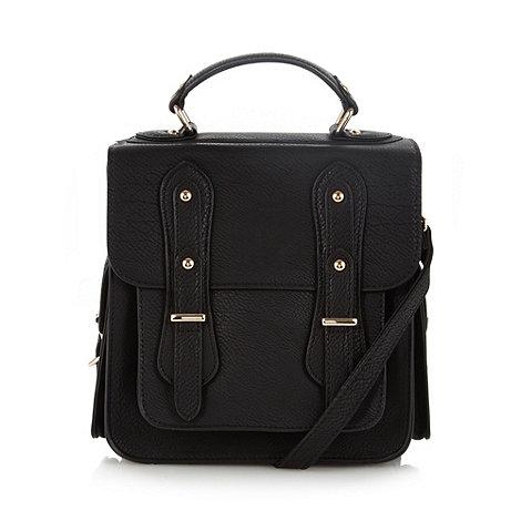 H! by Henry Holland - Designer black double buckle satchel bag