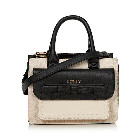 Lipsy - Cream and black embossed cross body bag