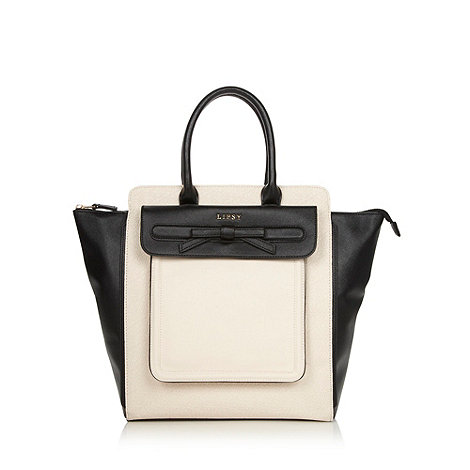 Lipsy - Cream embossed winged oversized tote bag