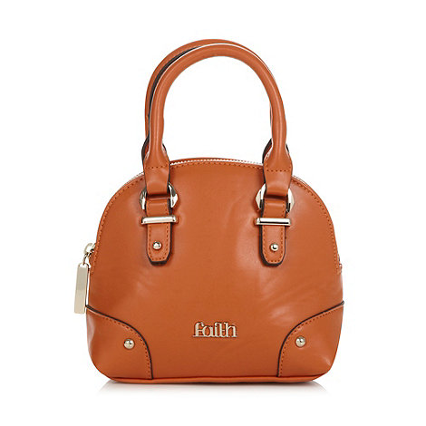 Faith - Orange mini dome bag