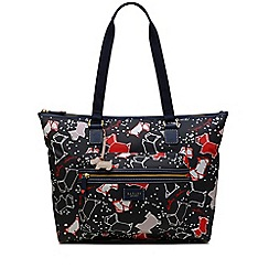 Radley - Large navy 'Speckle Dog' tote bag