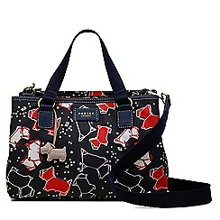 Radley - Medium navy 'Speckle Dog' multi-compartment multiway bag