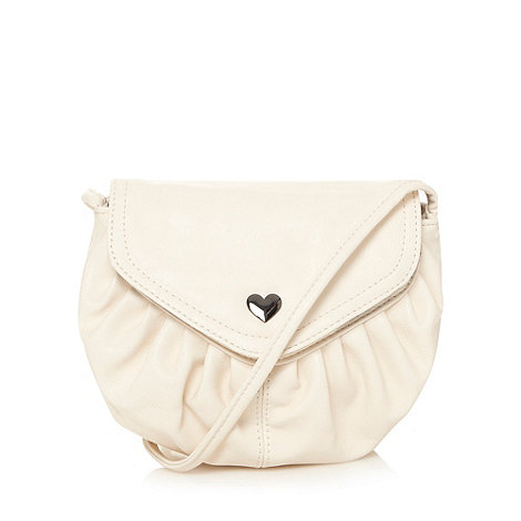 Red Herring - Cream mini pouch across body bag