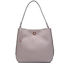 Radley - Large light grey leather 'Carey Street' bucket hobo bag