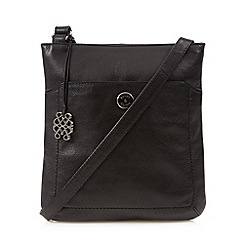 Bailey & Quinn - Black leather charm cross body bag