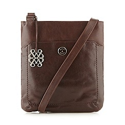 Bailey & Quinn - Chocolate leather charm cross body bag