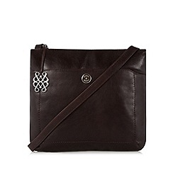 Bailey & Quinn - Dark brown 'Cumbria' leather cross body bag