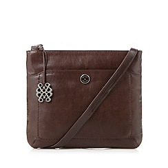Bailey & Quinn - Chocolate leather 'Cumbria' large cross body bag