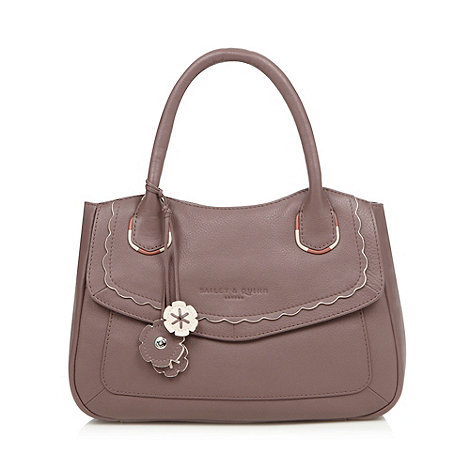 Bailey & Quinn - Lilac 'Teddington' leather grab bag