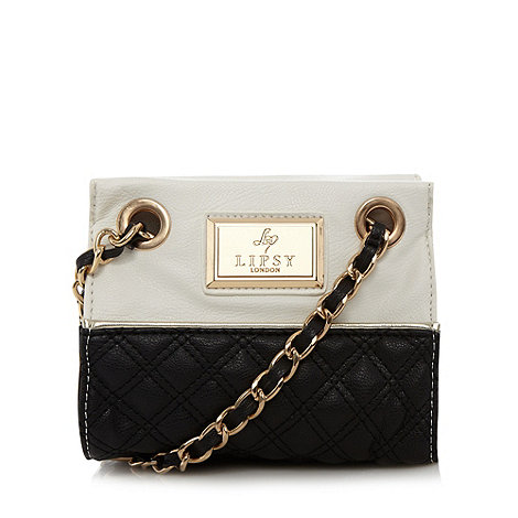 Lipsy - White monochrome quilted mini shoulder bag