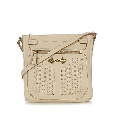 Nica - Cream zip pocket cross body bag