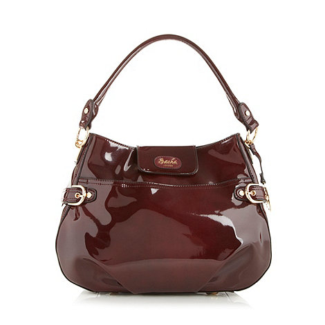 Sacha - Dark red patent scoop shoulder bag
