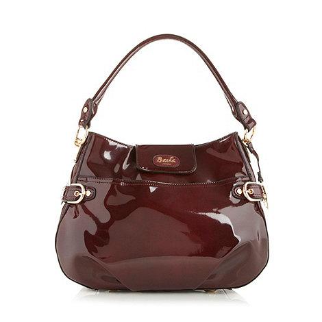 Sacha - Dark red patent scoop shoulder bag