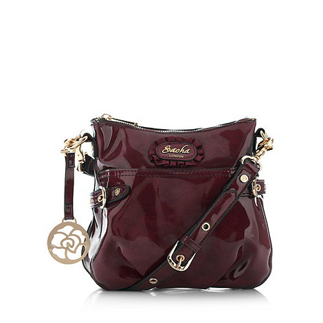 Sacha - Dark red patent cross body bag