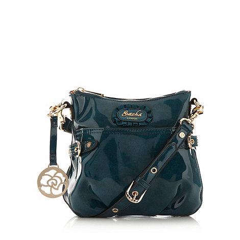 Sacha - Dark turquoise patent cross body bag