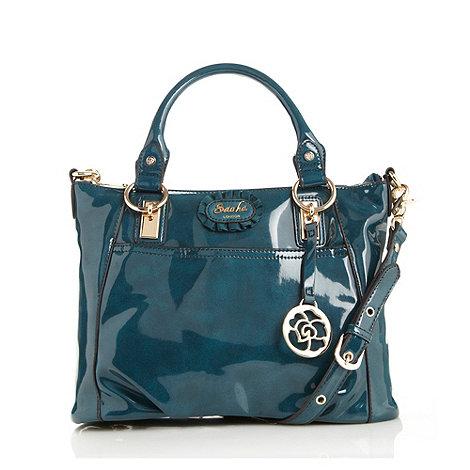 Sacha - Dark turquoise large patent grab bag