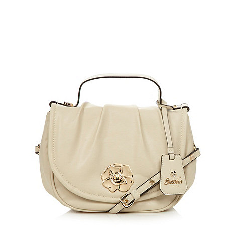 Sacha - Cream twist lock large cross body bag