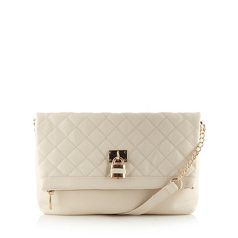 Call It Spring - Cream quilted 'Kunnas' padlock shoulder bag
