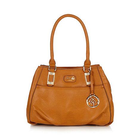 Sacha - Tan three section tote bag