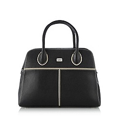 O.S.P OSPREY - Black tipped leather bowler bag