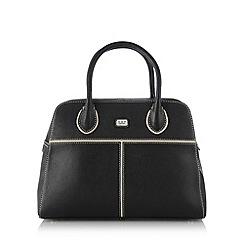 O.S.P OSPREY - Black tipped leather bowler bag