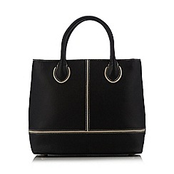 O.S.P OSPREY - Black tipped leather grab bag