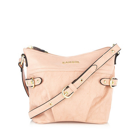 Kangol - Pale pink side buckle cross body bag