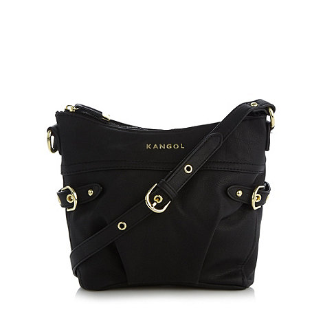 Kangol - Black side buckle cross body bag