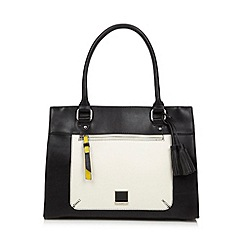 Principles by Ben de Lisi - Designer black monochrome panel tote bag