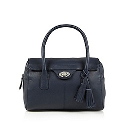 The Collection - Navy leather tassel charm music bag