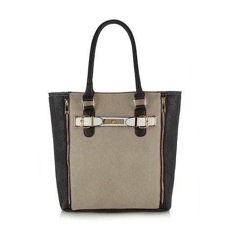 Call It Spring - Grey +Pratosesia+ zip detail tote bag