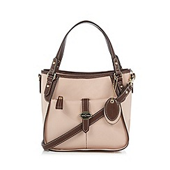 J by Jasper Conran - Designer light pink patent tab front grab bag