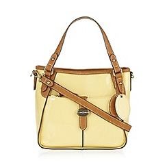J by Jasper Conran - Designer pale yellow patent grab bag