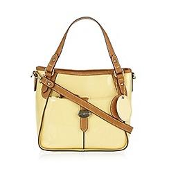J by Jasper Conran - Designer pale yellow patent grab bag