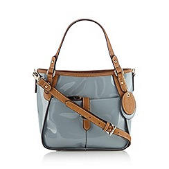 J by Jasper Conran - Designer pale blue patent grab bag