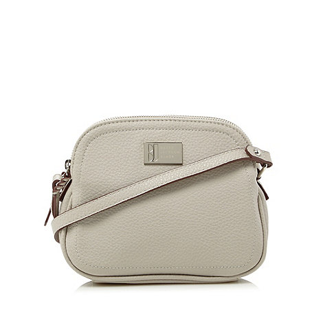Betty Jackson.Black - Designer light grey pebble grain cross body bag