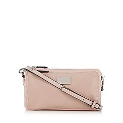 Betty Jackson.Black - Light pink pocket organiser bag