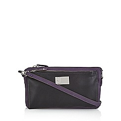 Betty Jackson.Black - Purple pocket organiser bag