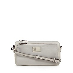 Betty Jackson.Black - Designer grey pocket organiser clutch bag