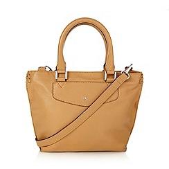 Betty Jackson.Black - Designer tan leather mini tote bag